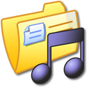 yellow, music, folder icon