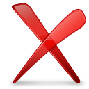 Red, x icon