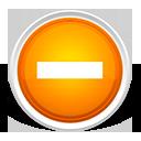 minus, subtract, orange icon
