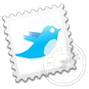 postage, social, social network, sn, stamp, twitter, grey icon