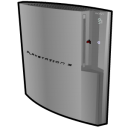 silver, standing, playstation icon