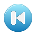 first, blue, button icon