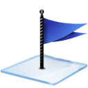 windows 7 flag blue icon