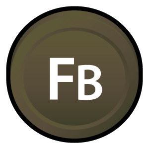 badge, flex, adobe, cs, builder icon