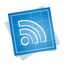 rss, social, blueprint icon
