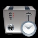 Clock, Toaster icon