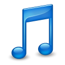 Blue, Music, Sidebar icon