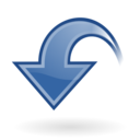 dynamic,blue,down icon