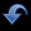 dynamic,blue,down icon