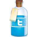 Bottle, Twitter icon