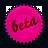 pink, beta, splash icon