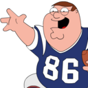 peter,griffin,football icon