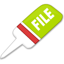 file, paper, document icon