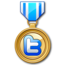 twitter medal icon