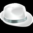 borsalino,blanc,hat icon