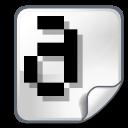 Font bitmap icon