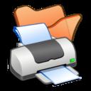 folder,orange,printer icon