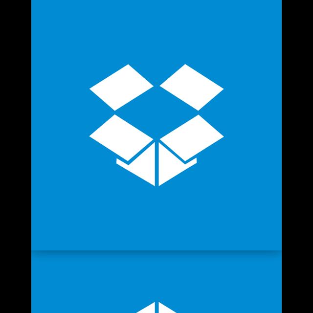 mirror, dropbox icon