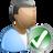 human, account, people, profile, check, user icon