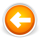 Arrow, Back, Left, Orange icon