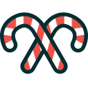 canes, xmas, christmas, candy canes, sweets, candies icon