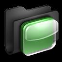 Black, Folder, , Ios icon