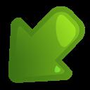 Arrow, Leftdown icon