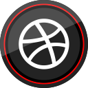 logo, dribbble, social, media icon