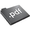 pdf, grey, folder icon