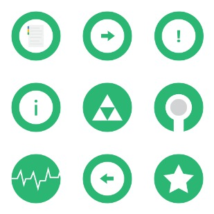 Greenline icon sets preview