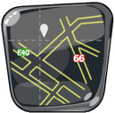 guide, map, route, navigation, maps icon