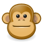 animal, face, ape, brown, monkey icon