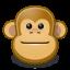 animal, face, ape, brown, monkey icon