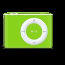 shuffle, ipod, vert icon