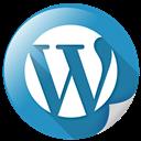 wp, wordpress, communication, blogging icon