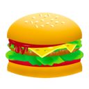 junk food, food, burger, hamburger, fast food icon