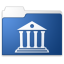 Library blue icon