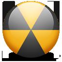 nuclear, burn, radioactive icon