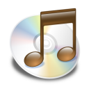 brown, itunes icon