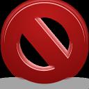 denied, close, cancel, stop, no icon