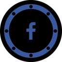 page, circle, fb, btn, media, internet, network icon