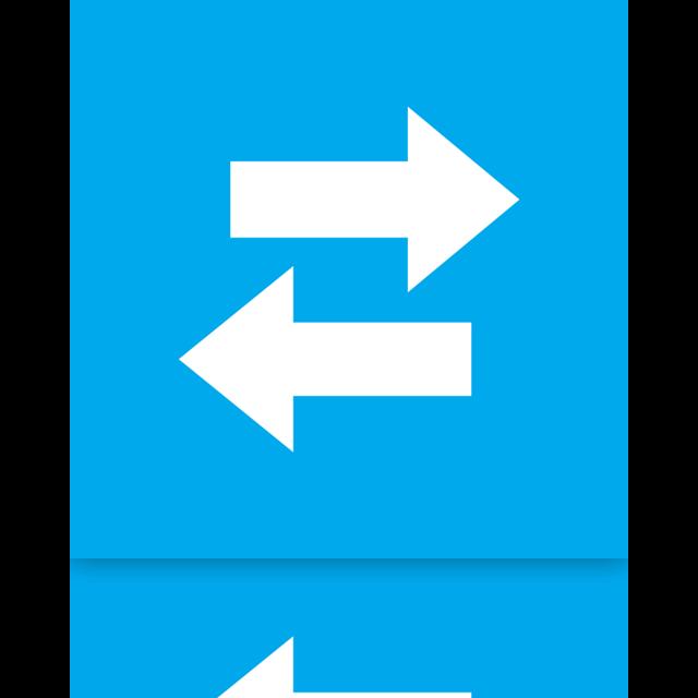mirror, sync, live icon