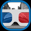 Flat, Goggles, Round icon