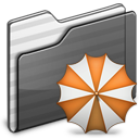 Backup Folder black icon