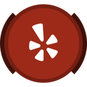 social, yelp, review icon