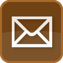 mail, square, envelope, contact, brown, post, send, basic, delivery, message, letter, address, email icon