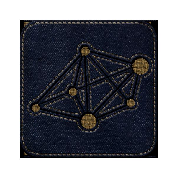 logo, social, square, dzone, denim, jean icon