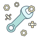 repair, service, settings, nut, wrench, tool icon