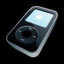 ipod, black, video icon