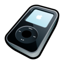 ipod, mp3 player, video, black icon